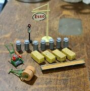 Mixture Of Vintage Britains Matchbox And Dinky Accessories