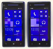 Lot Of 2 Htc Windows Phone 8x 16 Gb Verizon 4g Lte Blue As-is Cannot Activate