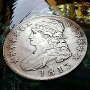 1813 Capped Bust Half Dol. E Pluribus Unum On Both Sides. Clashed.