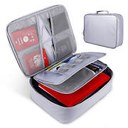 Fireproof Document Bag With Zipper Closure Fire And Water Resistant Money Bag A6p0