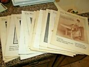 Woodworkers Journal 15 Issues 1980-1982 Lot