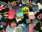 5 T-shirt Mixed Lot Sports Tie Dye Bands Movies Graphic Comics Current And Vtg