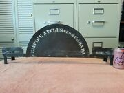 Very Unusual Vintage Copper Empire Apples From Canada Display Sign