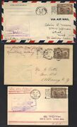 Canada 1928 Coll. Of 7 1st Flight Covers All Bearing Sc. C1 1st Air Mail Stamp