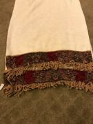 Set Of 2 Croscill Imperial Hand Towels/red And Gold Medallion