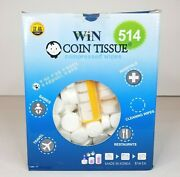 Coin Tissue Compressed Towels Wipes 514 Wipes With 2 Carry Cases Sealed