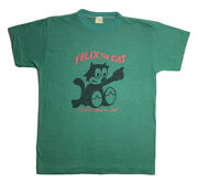 Vintage Felix The Cat Shirt Worlds Famous Single Stitch Green 70s 80s Thin Med