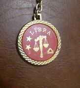 Vintage Libra Keychain Astrology Whats Your Sign Hit Usa Fathers Day Gift