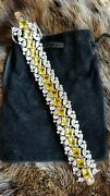 Suzanne Somers Limited Ed. Signed 74/200 Yellow 925 Ss Multi-color Cz Bracelet