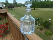 Rare - Vintage 10 Heavy Kosta Boda Cut Glass Decanter, 1 Owner, Barely Used