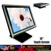 Pos Touch Screen Displayer Monitor Restaurant/retail Cash Register Display 15''