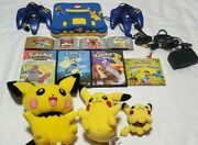 Nintendo 64 Console N64 Lot Of 4 Pokemon Games And More - N64 Console Bundle