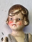 Antique Vintage Bisque Doll With Clothes, Articulated Arms And Legs - Rare Gc