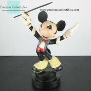 Extremely Rare Conductor Mickey Mouse. Symphony Hour Big Figurine Walt Disney