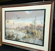 Herb Booth Mid Morning Mallards Fs Giclee Ap 14 Of 15 New Frame Rare