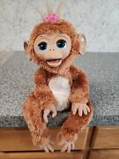 """Furreal Friends Cuddles My Giggly Chimp 18"""" Interactive Monkey 2012 Works"""