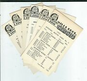 Am-028 Mills Bros Circus Group Of Seven Route Cards From 1963 Vintage Clown Illu