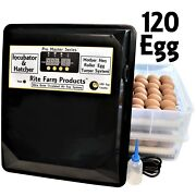 Rite Farm Products Pro Master Series 120 Chicken Egg Incubator And Hatcher Turner