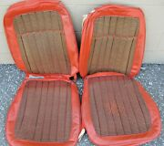 1969 Camaro Z11 Rs/ss Pace Car Houndstooth Seat Covers Front And Rear Originals