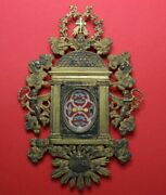 Rеликвия Relikt Shrine Relic Reliquary From Hair Blessed Virgin Mary+5 Relic ✔️