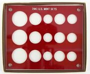 Capital Plastics Coin Holder 1941 Pds U.s. Triple Mint Sets New Old Stock Red