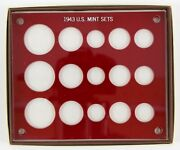 Capital Plastics Coin Holder 1943 Pds U.s. Triple Mint Sets New Old Stock Red