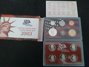 2003-s 90 Silver Proof Set United States Mint Original Government Packaging Box