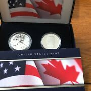 2019 Pride Of Two Nations Limited Edition 2 Silver Coin Set - Us / Canada