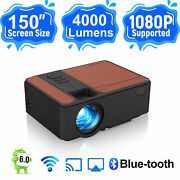 Portable Mini Led Smart Hd Projector 1080p Android 6.0 Blue-tooth Native 720p Us