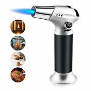 Blow Torch Refillable Butane Gas Torch Lighter Adjustable Flame Chefs Blow
