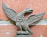 Antique Spread Winged Eagle Ball Topper Finial Clock Flag Pole Coffee Grinder