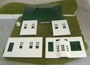Plasticville House - White With Green Trim