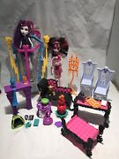 Monster High Draculaura Frankistien Chamber Furniture And Accessory Lot