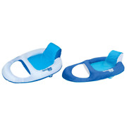 Swimways Spring Float Recliner Floating Pool Lounge Chair Blue 2 Pack