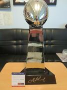 Troy Aikman Signed Super Bowl Trophy Psa Coa. Very High Quality 18 Inches Tall
