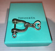 Vintage Authentic Co Sterling Silver Single Shackle Key Ring Holder Box