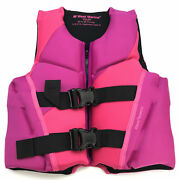 West Marine Deluxe Youth Rapid-dry Life Vest Pink/fuchsia 50-90 Lbs