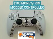 Sony Ps5 100 Bill Money Trim Front Rapid Fire Modded Controller Cod Fps Games
