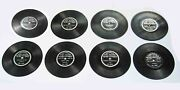 1st Form 1 Sided C1898 Columbia Phonograph Disc Records Lot Of Eight 8