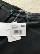 Andpound895 Nicole Farhi Designer Stretchy Lambskin Leather Trousers Jeans Pants Size 6