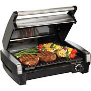 Grill Bbq Electric Flavor Searing Easy Cleaning Patio Table Heat Indoor Outdoor