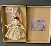 Rosemarie Snyder Patriotic Limited Edition China Head Doll In Presentation Box