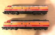 Weaver O Scale Emd E-8 Aa Southern Pacific Daylight Both Powered Diesels Ob