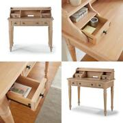 Cambridge 42 In. Whitewashed Natural Student Desk Hutch