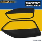 Fit For Ford Mustang 2005 -2009 Pair Interior Door Panel Insert Hard Cover