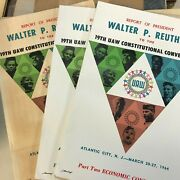 Uaw March 1964 19th Constitutional Auto Report Report Book  Part 1,2,3, Car