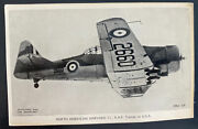 Mint England Valentines Picture Postcard Royal Air Force Raf Harvard 11 Trainer