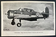 Mint England Valentines Picture Postcard Royal Air Force Raf Harvards New Americ
