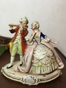 Beautifull A Small Porcelain Figurine Gallant Couple Grafental Germany Hand Made