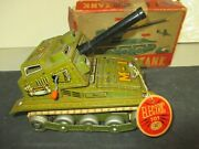 Vintage Modern Toys M-1 Tank Tin Litho Japan Battery Operated W/box And Tag